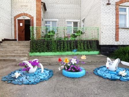 Оформление школьного двора фото